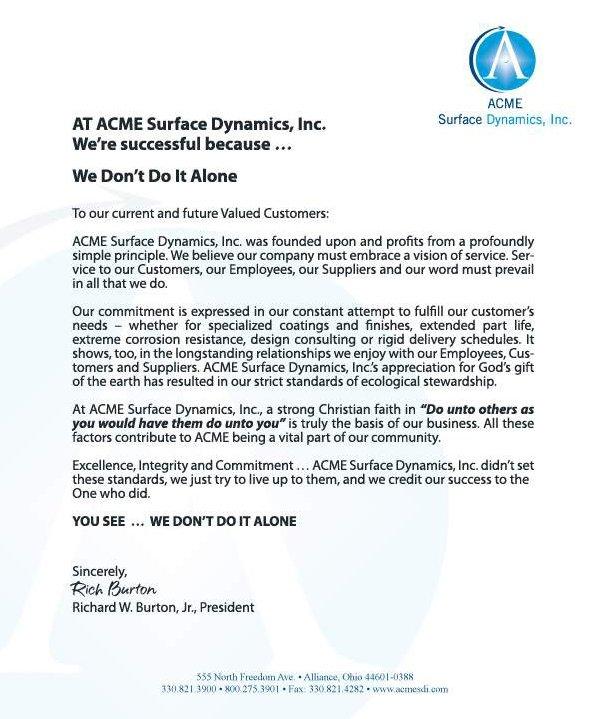 ACME Letter
